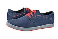 Мужские кроссовки из натурального нубука mida 110050н.син синие   весенние , фото 1