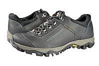 Мужские кроссовки из натуральной кожи mida 11554ч черные   весенние , фото 1