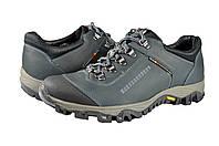 Мужские кроссовки из натуральной кожи mida 11554син синие   весенние , фото 1