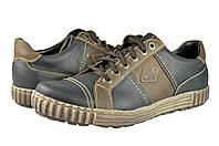 Мужские кроссовки из натуральной кожи mida 11740ч коричневые   весенние , фото 1