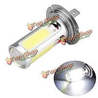H7 25w COB автомобиль белый LED противотуманная фара дневного света лампы с линзой