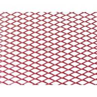 Решетка алюминиевая для тюнинга 100 х 25 см красная (крупная ячейка)