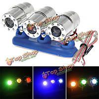 Постоянного тока 12В мотоцикла многоцветный 3-LED декоративные лампы свет строба