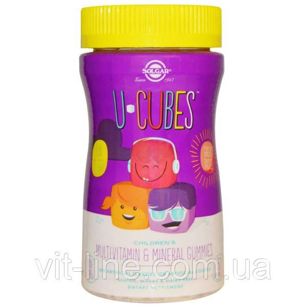Мультивитамины и минералы для детей от Solgar, U-Cubes , 60 жевательных конфет