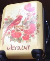 Чемодан пластик на четырех колесах Ukraine Bird  ABS пластик