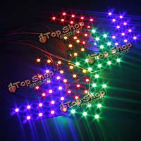 Машине 14 СМД LED стрелка панелей боковые зеркала индикатор сигнала поворота света