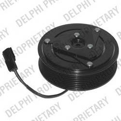 Электромагнитная муфта компрессора кондиционера на Renault Trafic III 2014-> 1.6dCi — Delphi - 0165001/0