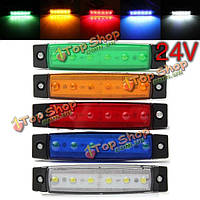 24v 0.5w 6SMD LED габаритный индикатор лампа для мотоцикла авто шины грузовик прицеп грузовика