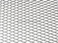 Решетка алюминиевая для тюнинга 100 х 25 см серебряная (крупная ячейка)