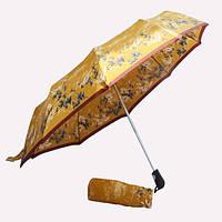 Зонт золотой с цветами 1R-04