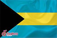 Флаг Багамские Острова 80*120 см., искуственный шелк