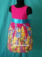 Детское платье для  девочки розовое