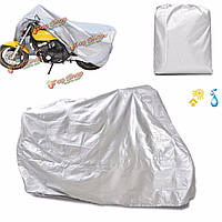 Мотоцикл дождь уф пылезащитный чехол пыли велосипед протектор серебряный XXL
