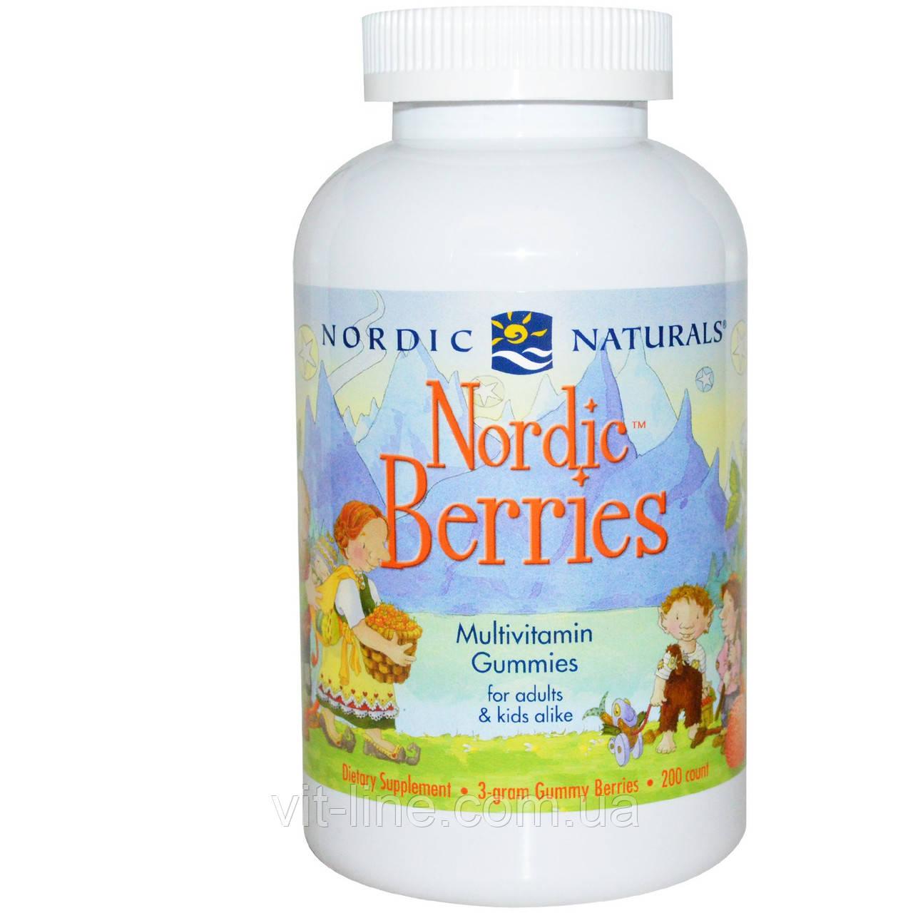 Nordic Naturals, Северные ягоды, Мультивитамины в жевательных таблетках, 200 штук