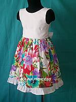 Детское  летнее платье в лилии
