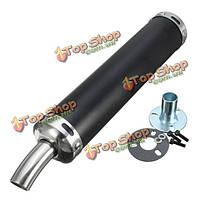 Глушитель глушитель труба мотогонки 6x28cm универсальный для уличного скутеров
