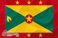 Флаг Гренады 80*120 см., искуственный шелк