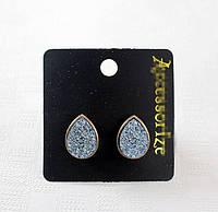 Модные серьги в виде капель голубого цвета от Accessorize