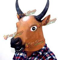 Корова головой лошади лицо животное маска опорой для Хеллоуин костюм фестиваля