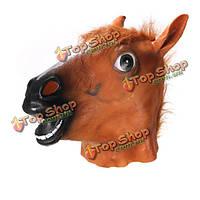 Голова лошади маски Хеллоуин костюм театр опора новинка жуткий латекс