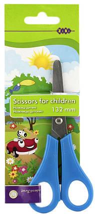 Ножницы детские ZiBi ZB5001 135мм с линейкой, ассорти, фото 2