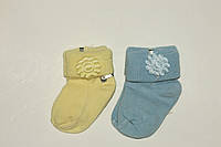 Носки цветочек для новорожденного Турция,хлопок р1(0-6 мес)