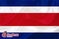 Флаг Коста -Рика 80*120 см., искуственный шелк