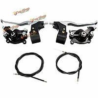 Тормозной суппорт кабельные рычаги Комплект для 47cc 49cc мини-мото велосипеды грязи мотоцикла