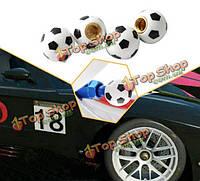 4шт 8мм стильные шапки футбол дизайн шин колесо крышки клапана для автомобиля грузовик мотоцикл велосипед