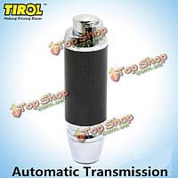 Tirol автомобиль черного цинка ручка сплава кожа переключения передач универсальный для автоматического автомобиля