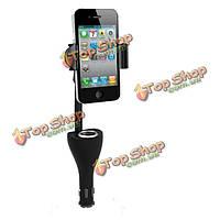 Автомобильный держатель для iPhone телефон Samsung GPS с USB Автомобильное зарядное устройство