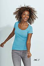 Жіноча футболка з круглим коміром SOL'S, MOODY