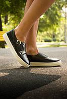 Туфли  Т-166/1 из натуральной кожи черного цвета