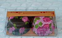 Бумажные формы для капкейков, кексов, маффинов, 7*3 см, 2 вида в наборе, в упаковке 50 шт.