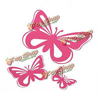 Розовая бабочка окно автомобиля винила графический декор наклейки деколь