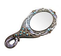 """Зеркало с ручкой """"Павлин"""""""