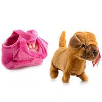 Интерактивная игрушка Na-Na Собака в сумке, поёт и гуляет IF51S