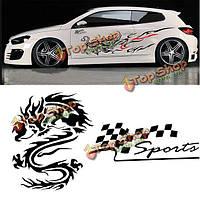 180см х 35см китайский дракон тотем автомобиль стиль тело ПВХ стикер