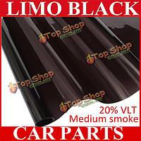 Темно-черный автомобиль оттенок окна VLT 20% 6 м х 50 см фильм тонировка солнцезащитные