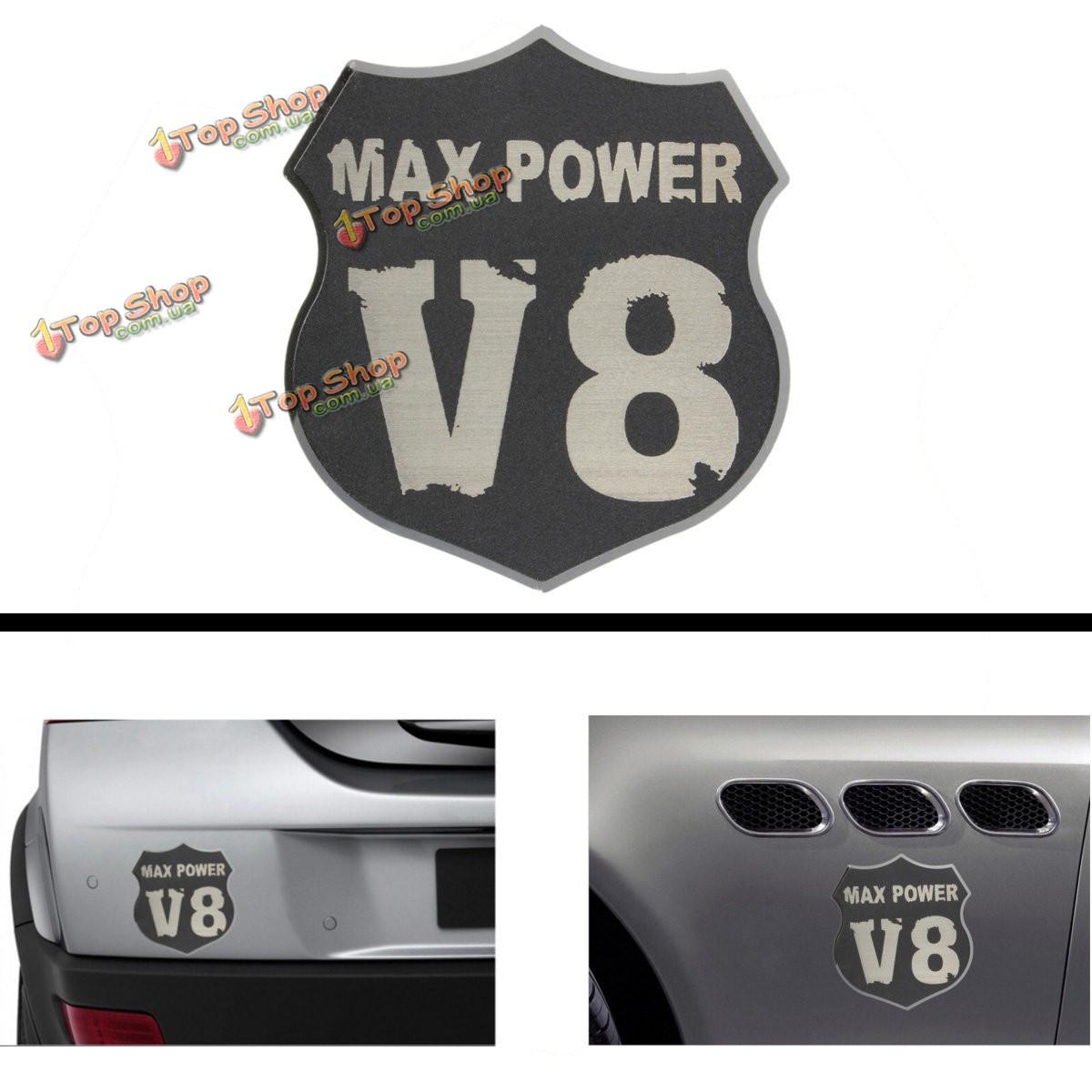 3D автомобиля металла V8 максимальная мощность эмблема переводная картинка эмблема наклейка значок грузовик авто двигатель - ➊TopShop ➠ Товары из Китая с бесплатной доставкой в Украину! в Киеве