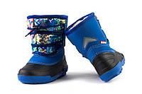 Детские сапоги на мальчика Alisa LINE Freestyle синие (Бесплатная доставка) р.26-31