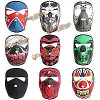 Полная маска для лица мотоцикл обратимым байкер скейтборд страшные виды спорта неопрена