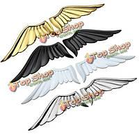 Автомобильные крылья стикер металла стерео задняя этикетка золотой черный ленты белого