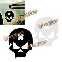 Крест ошибка черепа автомобиля стикер скелет мотоцикла отражающий винил деколь бирка 14см * 11см