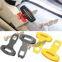 2шт универсальный ремень автомобиля Сафти сиденье пряжками сигнализация бип стопорного компенсатора клип желтый черный