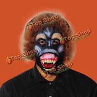 Латексный карнавал маски орангутана обезьяны бабуина Хэллоуина животных леопарда