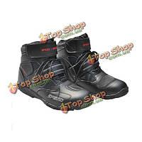 Скорость мотоцикла гоночные ботинки гоночные ботинки для Pro a005 черный белый