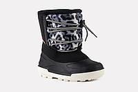 Детская зимняя обувь на меху Alisa LINE Freestyle черная (Бесплатная доставка) р.26-31