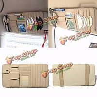 Солнцезащитный козырек 2 в 1 CD держатель для хранения DVD сумка карман автомобильные аксессуары бежевый