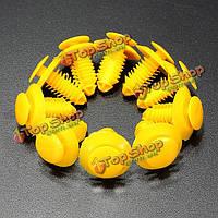 10шт Ровер 75 зт клипы подоконник удар тарелка декоративная накладка крепежа желтый